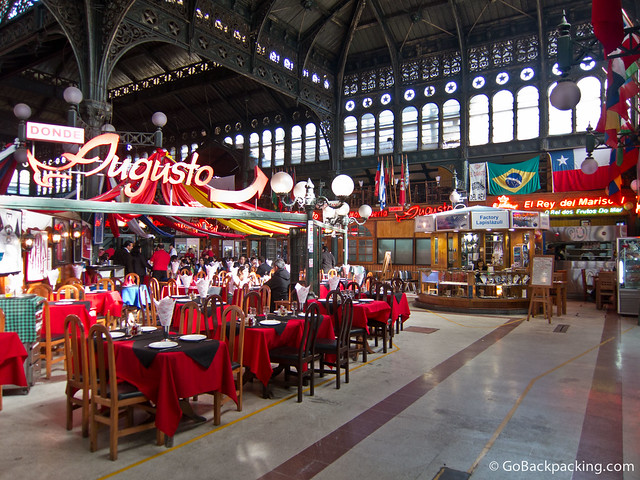 Inside Mercado Central (the seafood market)