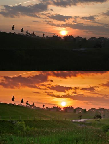 mock sunset