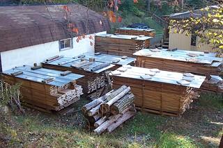 lumber,stacks,air drying