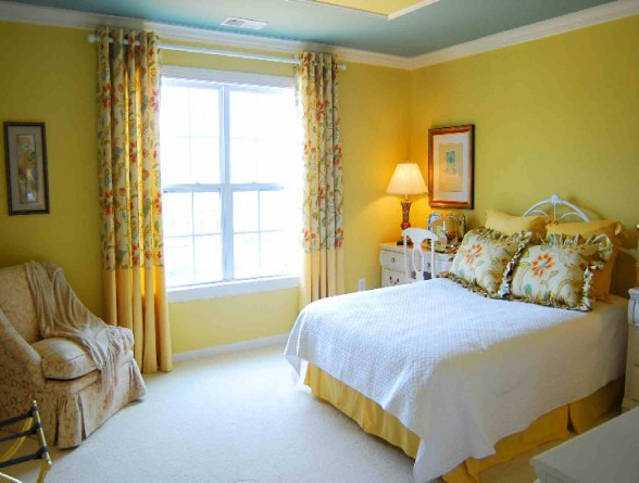 cute yellow bedroom