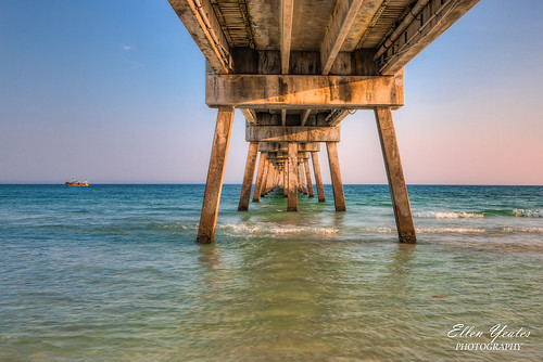 ocean trip bridge blue sunset sea vacation sky seascape beach landscape pier boat long exposure tour unitedstates florida under wave scene tourist fl destin fla hdr flordia exposures vacatin ellenyeates ellenyeatesphotography