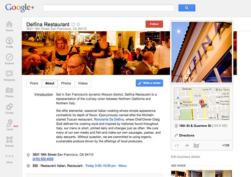 New Google+ Local Page