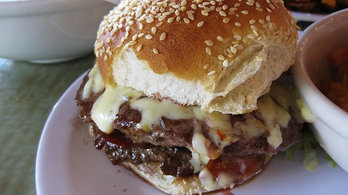double angus burger