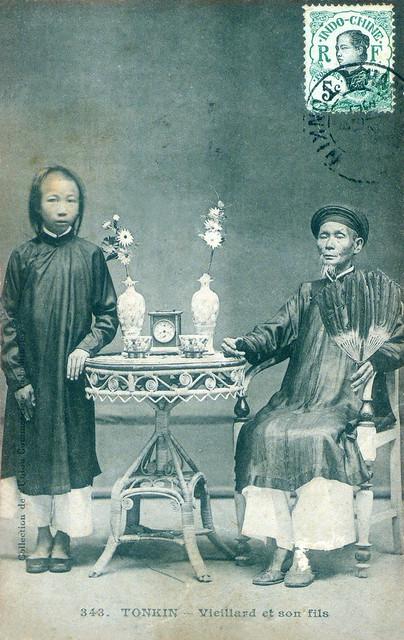 TONKIN - Vieillard et son fils