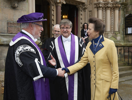 HRH The Princess Royal introduced to James Fraser