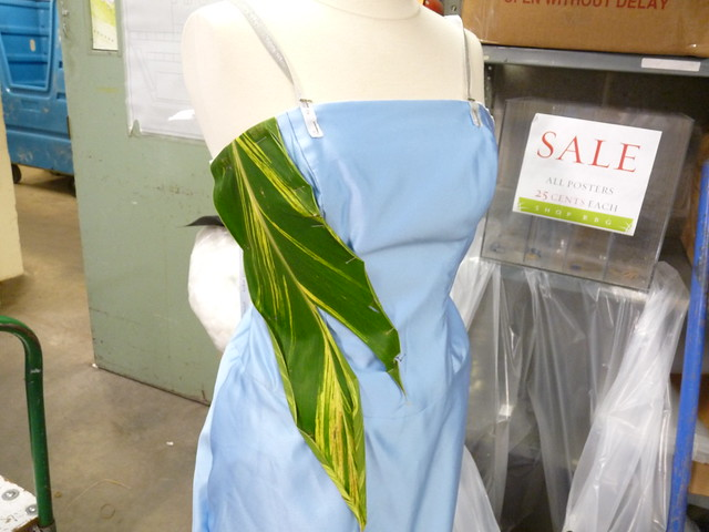 In progress: one of the wearable botanical sculptures that will be unveiled at the Spring Gala and featured at After Party. Photo by April Greene.