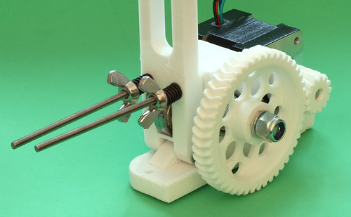 Modified RepRapPro Huxley extruder fully assembled