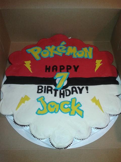 Pokemon Pull Apart Cupcake Cake