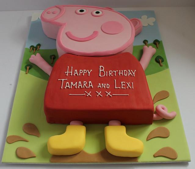 Birthday Cake With Photo Upload Free : Peppa Pig birthday cake!! Flickr - Photo Sharing!