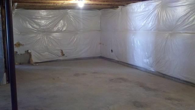 Before Unfinished Basement Bedroom Area Flickr Photo Sharing