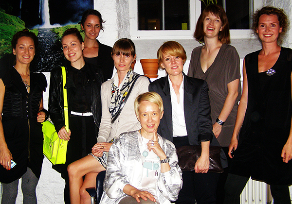 New Nordic Fashion Illustration exhibition, Tallinn 2011, all illustrators and exhibition organiser Helen Saluveer
