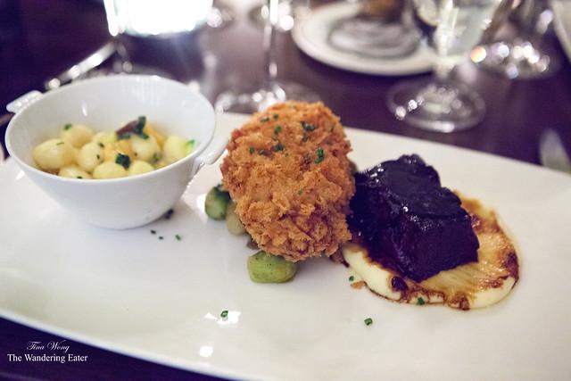 Gnocchi a la Provençal, Michel's Fried Chicken, Braised Short Rib