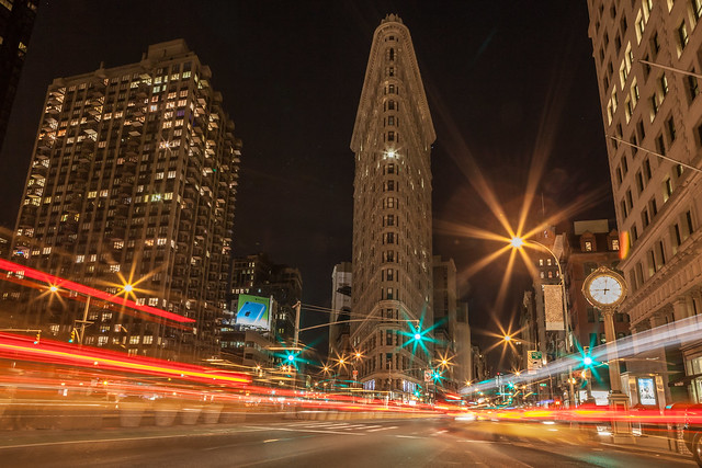 Flat Iron at Night