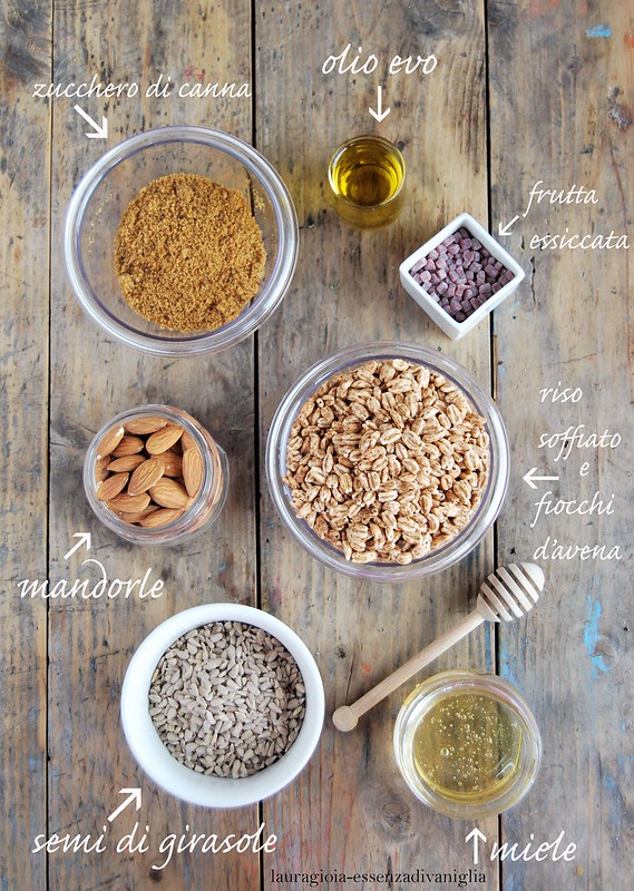 Ingredienti granola