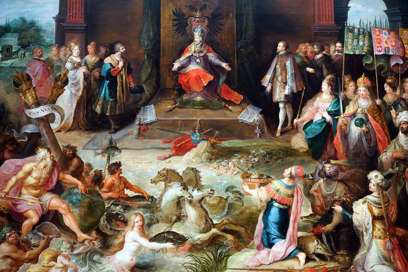 2013-08-07 08-09 Amsterdam 204 Rijksmuseum, Frans Francken II, Allegory on the abdication of emperor Charles V in Brussels