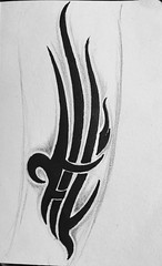 Tribal forearm or calf study #tattoos #tattoo #tribaltattoos #tribal