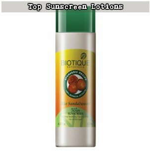 Best Sunscreen Lotion in India #1 - Biotique Bio Sandalwood 50+ SPF Sunscreen Ultra Soothing Face Lotion