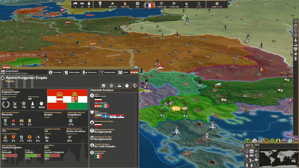 Making History: The Great War 1 0 – Grand Strategy game in
