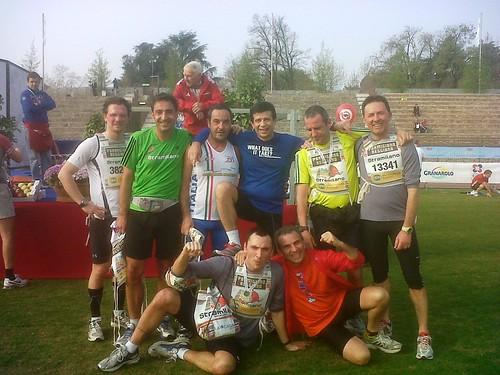 Atleti in foto di gruppo!