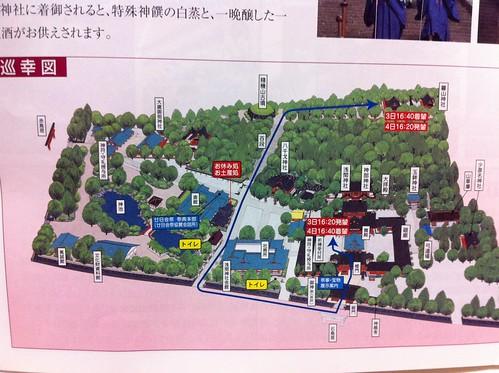 廿日会祭 降祭 巡幸図2012