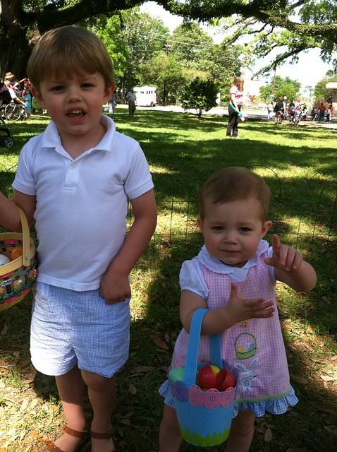 B and em Easter egg