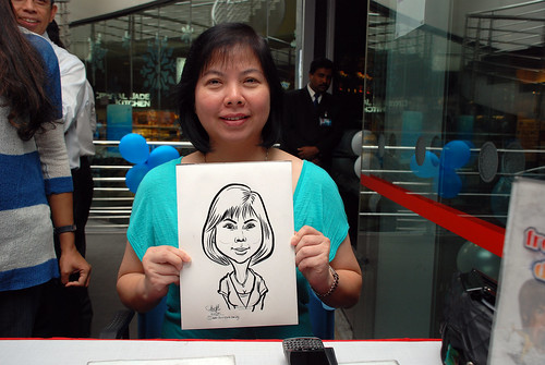 Caricature live sketching for Singapore Suntec City Annual Party - 15