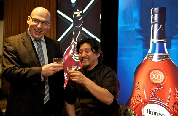 chef Edward Lee & Frederic Noyere, Managing Director of Moet & Hennessy Diageo.