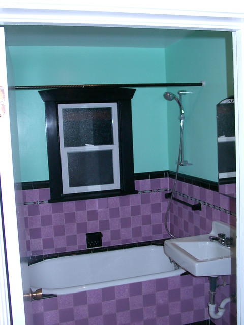 Purple And Teal Bathroom