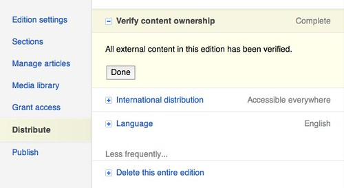 You need to verify ownership of your blog.
