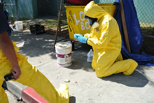 Hazmat Cleanup Rose and 3rd 4-27-12