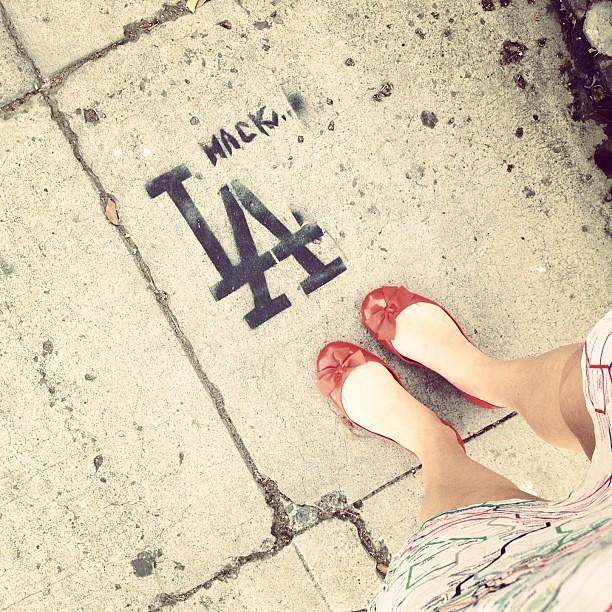 Sidewalk branding.