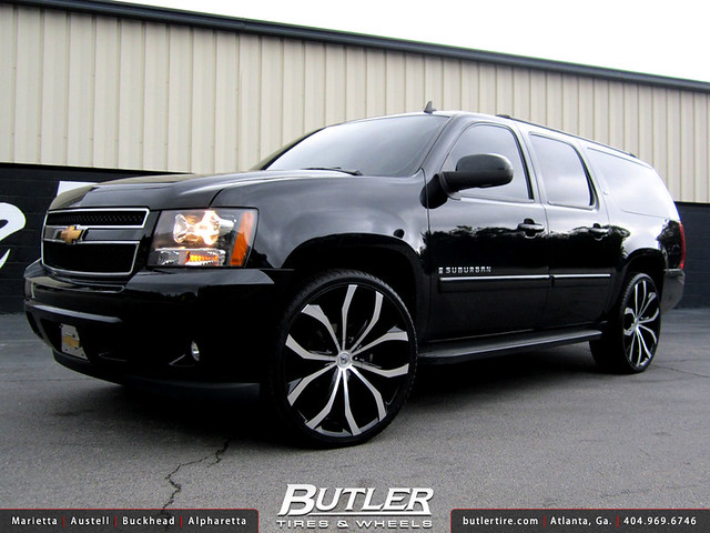 Chevy Suburban with 26in Lexani Lust Wheels