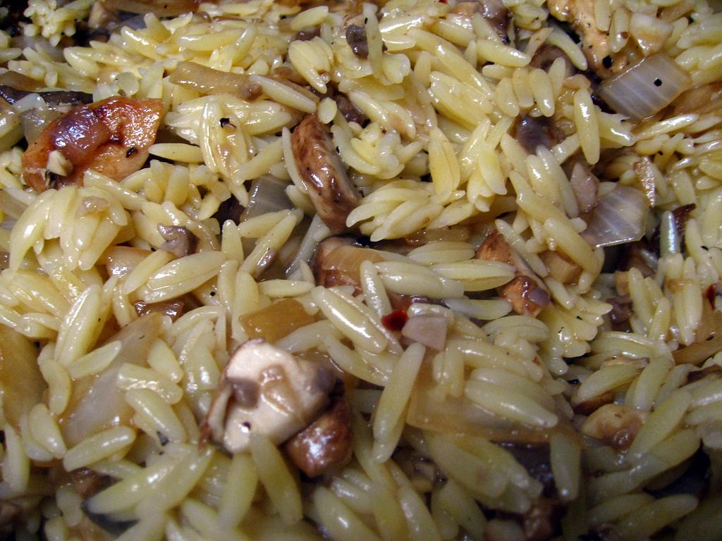 Chicken with Orzo and Mushrooms