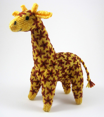 Knitting Pattern Giraffe : Knitted giraffe toy Flickr - Photo Sharing!