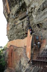 The Route Up To Sigiriya Rock Paintings