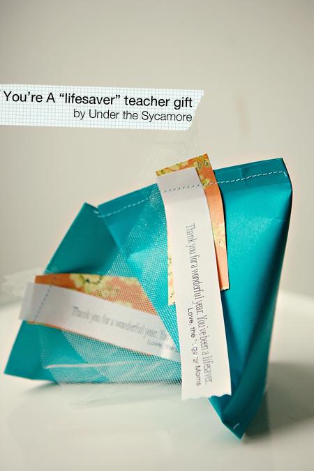 "DIY {""You're a lifesaver"" teacher gift}"
