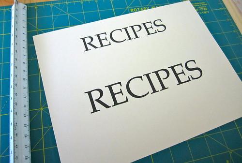 Recipe printout