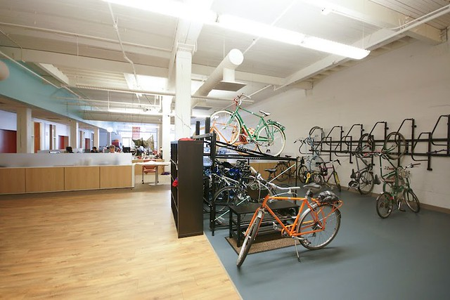 Rackspace office and bike parking