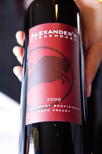 Cultivar Cabernet Sauvignon Cuvee Alexander's Steakhouse, Napa Valley 2009