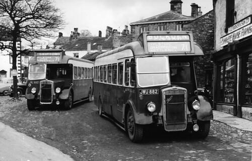 West Yorkshire Bristol LL5Gs  JWU 882 & JWU 883 in Grassington