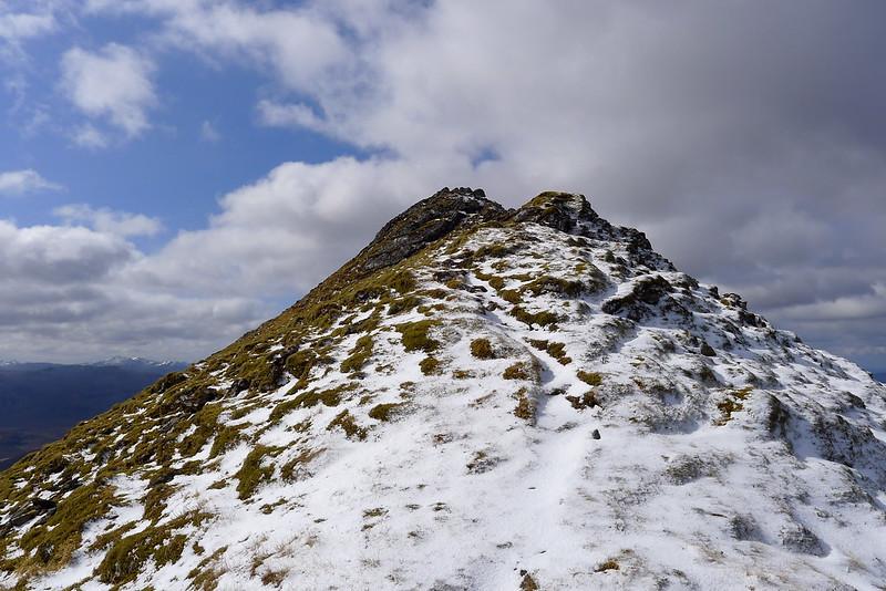 Summit ridge of Bidein a' Choire Sheasgaich