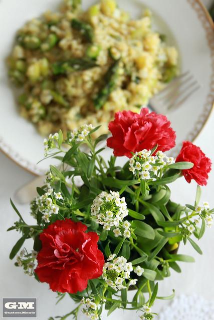 Bulgur agli asparagi e topinambur