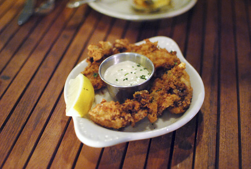 fried oysters with sauce gribiche