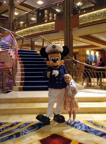 With Mickey Mouse on a Disney cruise