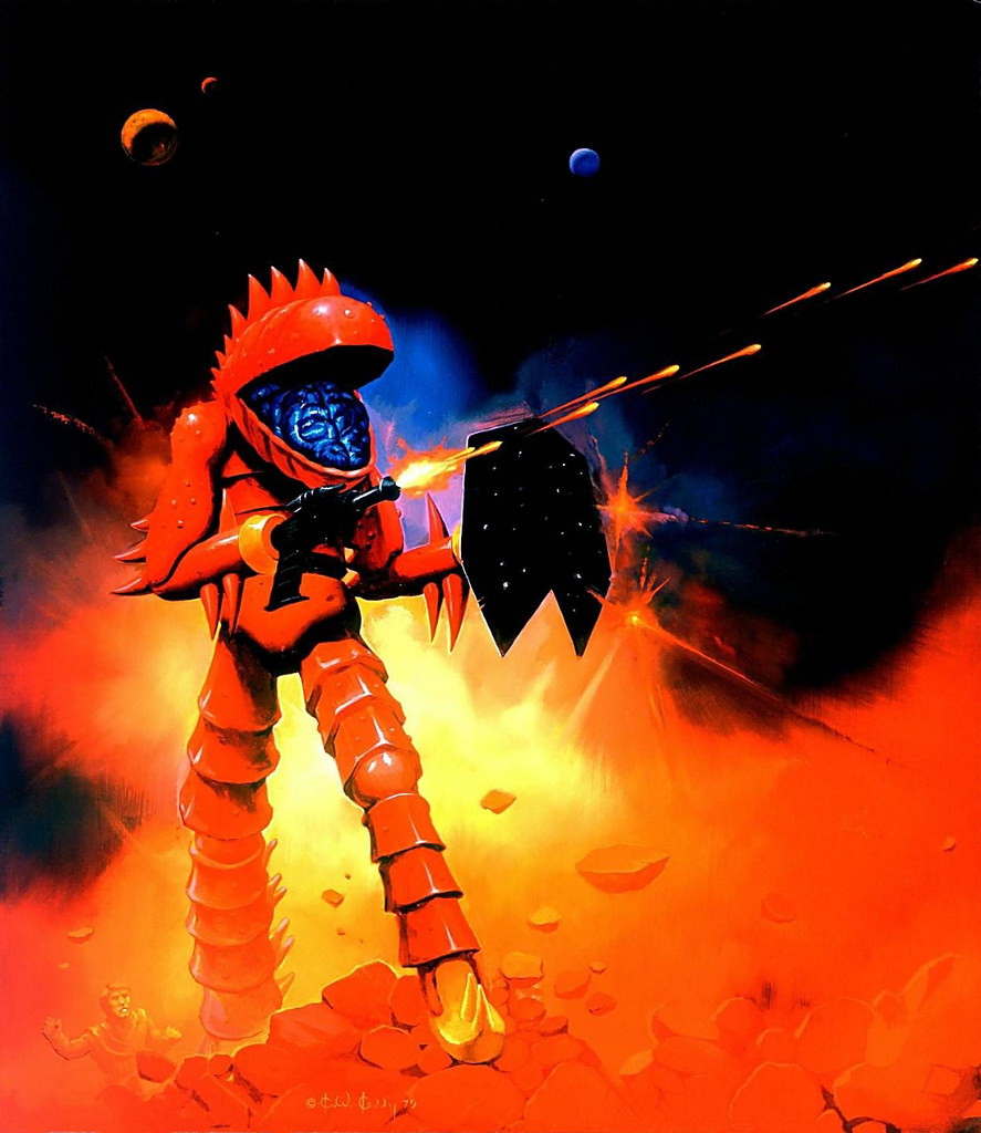Ken Kelly - Lobros, Micronauts Card Cover Art