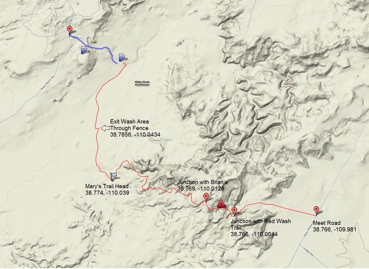 Utah Moto Trails Dirt Bike And ATV Trails Marys Slickrock - Wash map