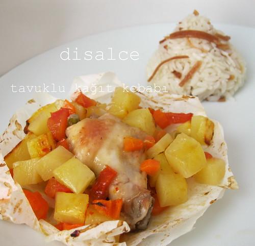 tavuklu kağıt kebabı
