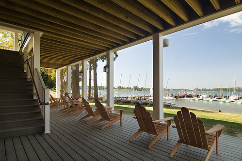 River Center Porch by Paul Burk