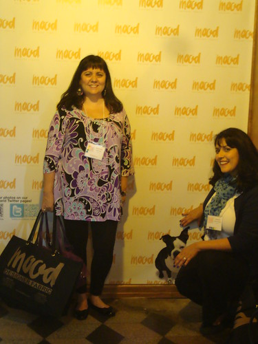 Sherril and Stephanie with the Step and Repeat at Mood