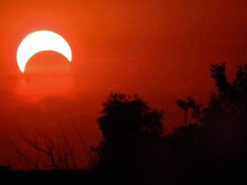 sunset sky evening eclipse missouri eveningsky ozarks solareclipse localozarkian 2012solareclipse